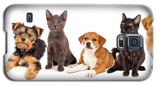 Row Of Puppies And Kittens Galaxy S5 Case
