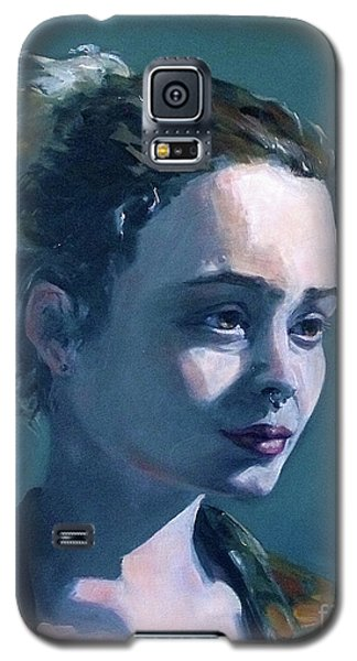 Galaxy S5 Case featuring the painting Rowan by Diane Daigle