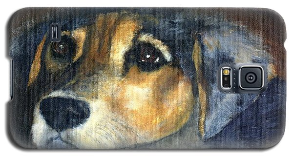 Galaxy S5 Case featuring the painting Roxie by Gail Kirtz