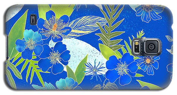Royal Blue Aloha Tile 2 Galaxy S5 Case