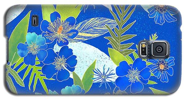 Royal Blue Aloha Tile 2 Galaxy S5 Case
