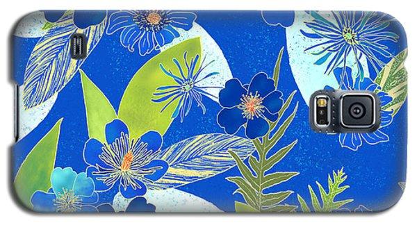 Royal Blue Aloha Tile 3 Galaxy S5 Case