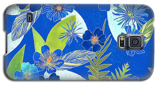 Royal Blue Aloha Tile 3 Galaxy S5 Case