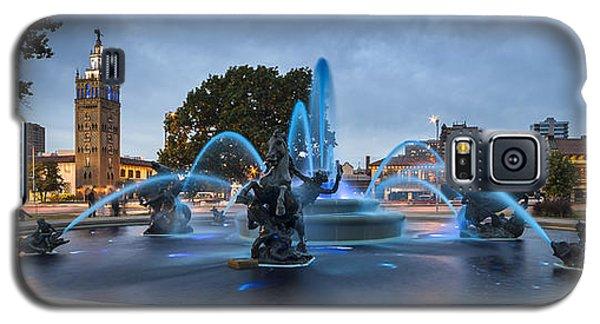 Royal Blue Fountain Galaxy S5 Case