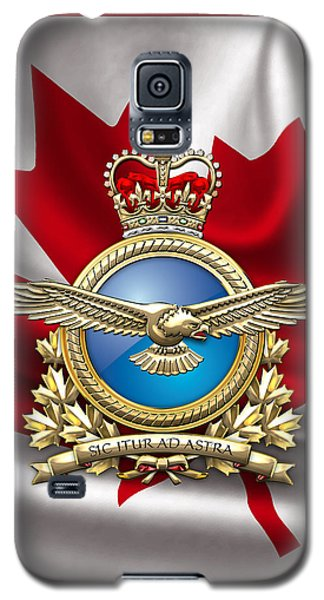 Royal Canadian Air Force Badge Over Waving Flag Galaxy S5 Case