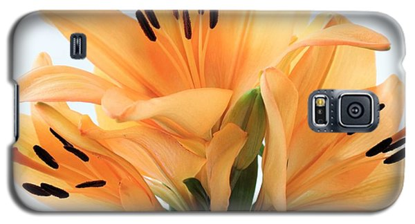 Galaxy S5 Case featuring the photograph Royal Lilies Full Open - Close-up by Ray Shrewsberry
