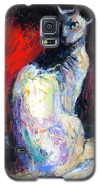 Royal Sphynx Cat Painting Galaxy S5 Case