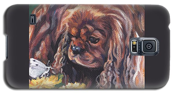 Galaxy S5 Case featuring the painting Ruby Cavalier King Charles Spaniel by Lee Ann Shepard