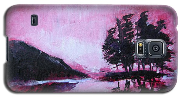 Galaxy S5 Case featuring the painting Ruby Dawn by Seth Weaver