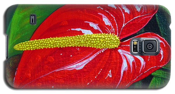 Galaxy S5 Case featuring the painting Ruby Holiday by Debbie Chamberlin