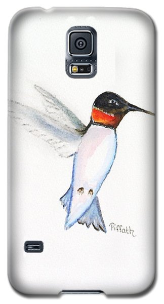 Galaxy S5 Case featuring the painting Ruby Hummer by Patricia Piffath