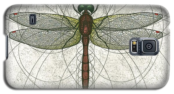 Ruby Meadowhawk Dragonfly Galaxy S5 Case by Charles Harden