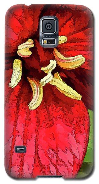 Ruby Red Trillium Galaxy S5 Case