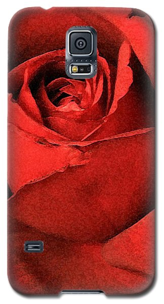 Galaxy S5 Case featuring the photograph Ruby Rose by Marna Edwards Flavell