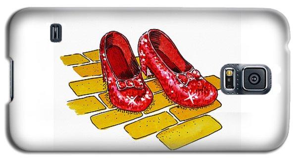 Wizard Galaxy S5 Case - Ruby Slippers The Wizard Of Oz  by Irina Sztukowski