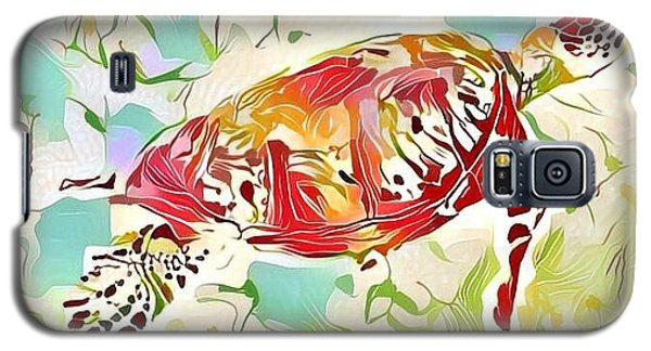 Galaxy S5 Case featuring the digital art Ruby The Turtle by Erika Swartzkopf