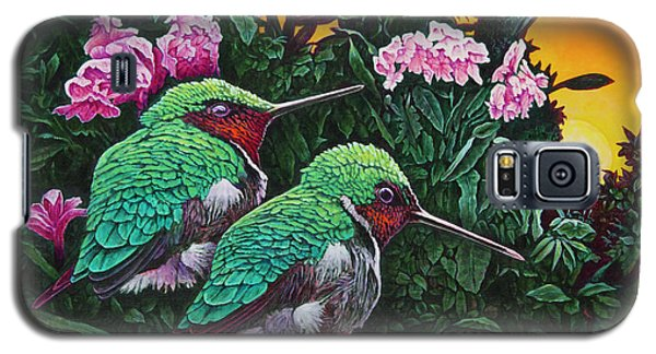 Ruby-throated Hummingbirds Galaxy S5 Case