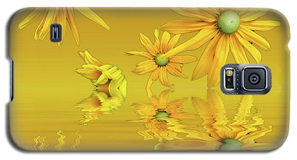 Galaxy S5 Case featuring the photograph Rudbekia Yellow Flowers by David French