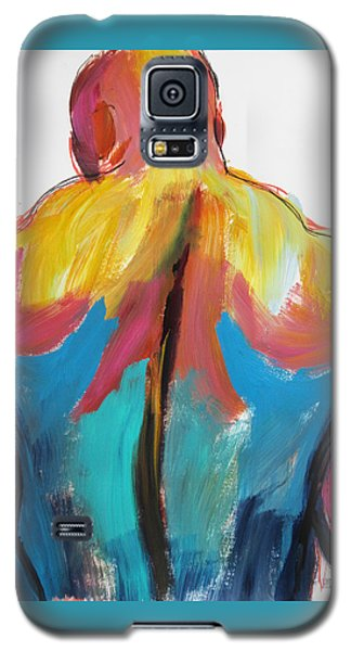 Galaxy S5 Case featuring the painting Rugger Man Broad Back by Shungaboy X