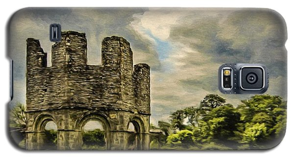 Galaxy S5 Case featuring the painting Ruins Of Mellifont Abbey by Jeff Kolker