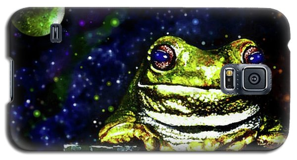 Galaxy S5 Case featuring the painting Ruler Of The Cosmos  by Hartmut Jager