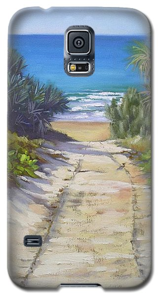 Galaxy S5 Case featuring the painting Rules Beach Queensland Australia by Chris Hobel