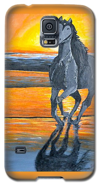 Galaxy S5 Case featuring the painting Run Free by Donna Blossom
