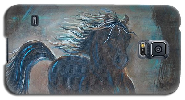 Galaxy S5 Case featuring the painting Run Horse Run by Leslie Allen