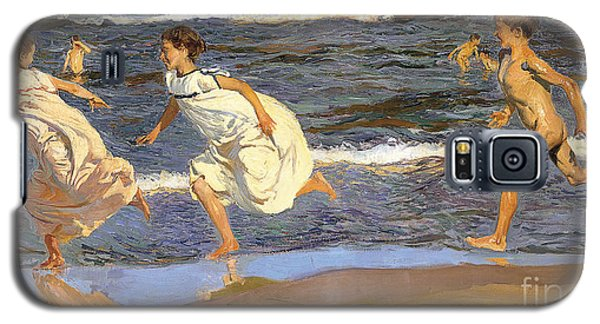 Running Along The Beach Galaxy S5 Case