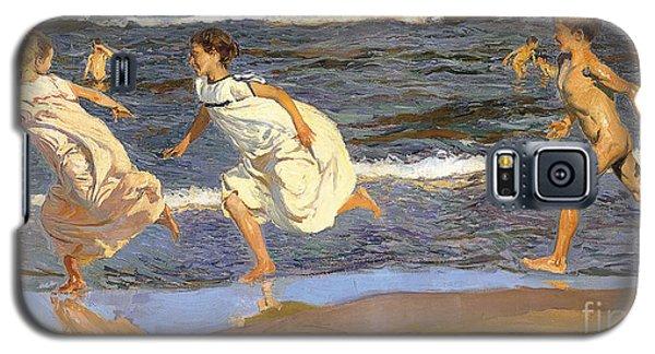 Running Along The Beach Galaxy S5 Case