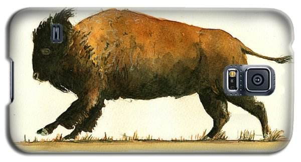 Running American Buffalo Galaxy S5 Case by Juan  Bosco