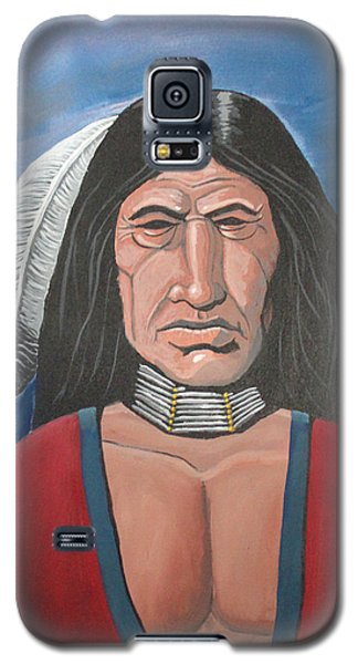 Galaxy S5 Case featuring the painting Running Bear by Antonio Romero