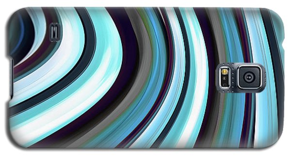 Galaxy S5 Case featuring the digital art Running Blue by Wendy J St Christopher