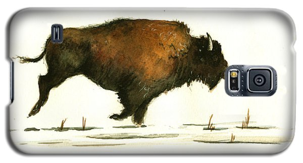 Running Buffalo Galaxy S5 Case by Juan  Bosco