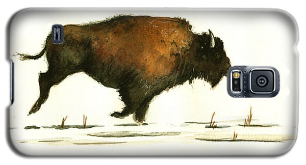 Bison Galaxy S5 Case - Running Buffalo by Juan  Bosco