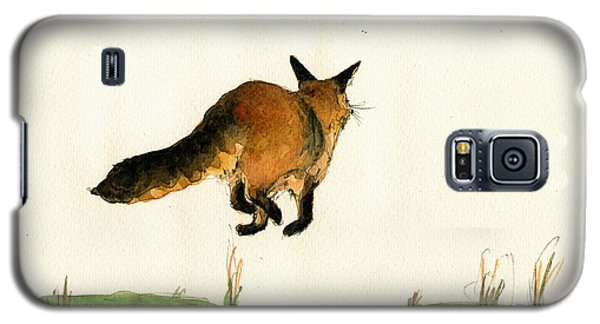 Running Fox Painting Galaxy S5 Case by Juan  Bosco