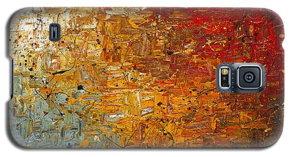 Galaxy S5 Case featuring the painting Running Free - Abstract Art by Carmen Guedez
