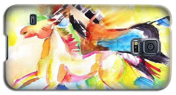 Running Horses Color Galaxy S5 Case