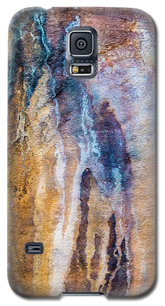 Galaxy S5 Case featuring the photograph Runoff Abstract, Bhimbetka, 2016 by Hitendra SINKAR