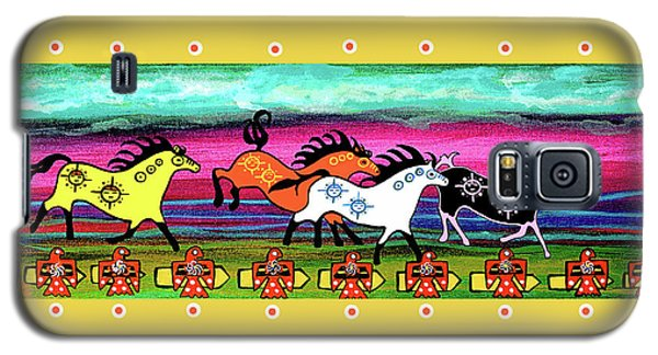 Galaxy S5 Case featuring the painting Running Free by Debbie Chamberlin
