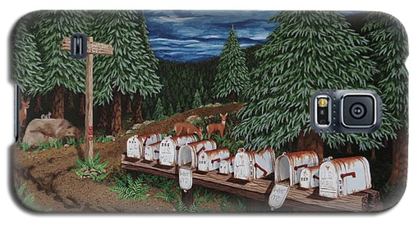 Galaxy S5 Case featuring the painting Rural Delivery by Katherine Young-Beck