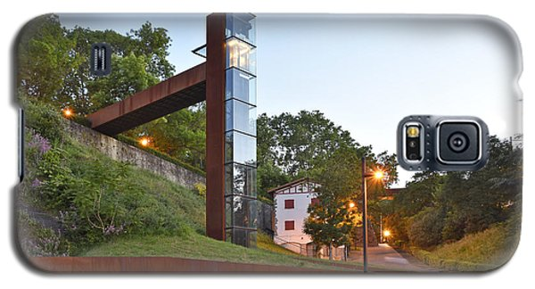 Galaxy S5 Case featuring the photograph Rural Elevator Pamplona Spain by Marek Stepan