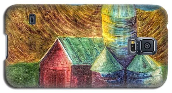 Galaxy S5 Case featuring the painting Rural Farm by Jame Hayes