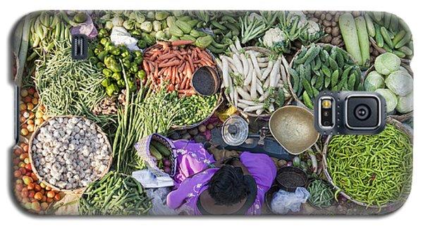 Rural Indian Vegetable Market Galaxy S5 Case