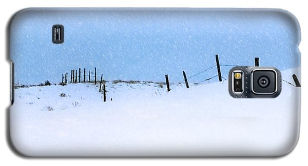 Rural Prairie Winter Landscape Galaxy S5 Case