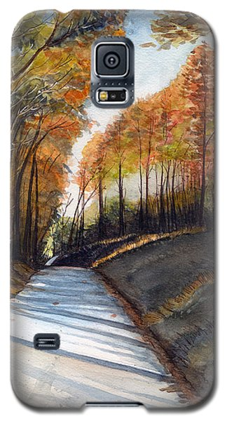 Rural Route In Autumn Galaxy S5 Case