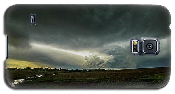 Rural Spring Storm Over Chester Nebraska Galaxy S5 Case