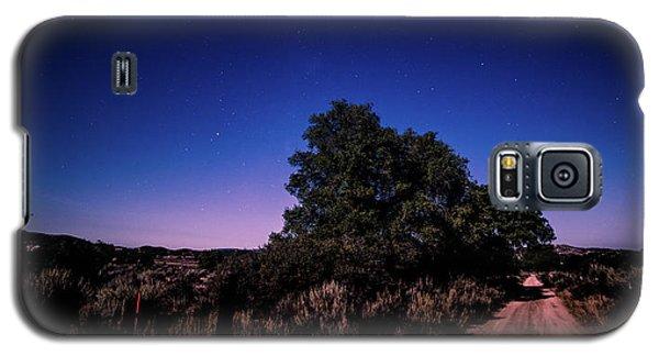 Rural Starlit Road Galaxy S5 Case