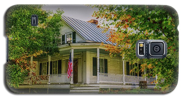 Galaxy S5 Case featuring the photograph Rural Vermont Farm House by Deborah Benoit