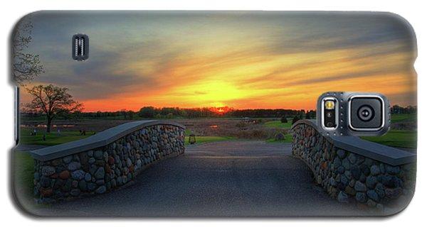 Rush Creek Golf Course The Bridge To Sunset Galaxy S5 Case